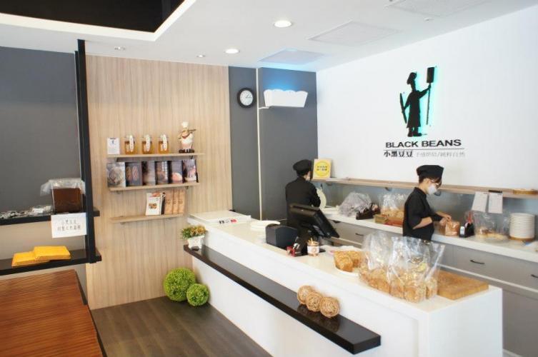 現代工業打造高質感麵包店 小黑豆豆